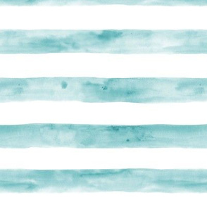 Tidewater green watercolor stripes