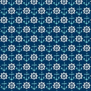 Anchors Away - Nautical Navy Blue Small Scale