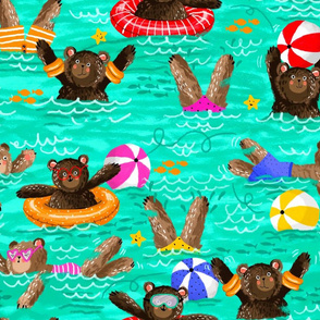 Swimming around - Larger