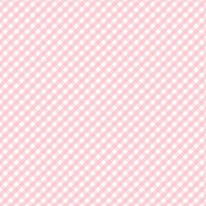 tiny gingham 45 degree light pink