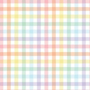 Pastel Rainbow Gingham - Small Scale