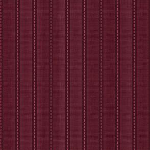 Burgundy Dash Stripe