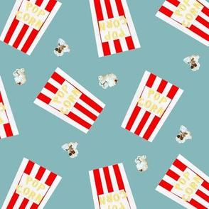 Retro Popcorn Box Blue