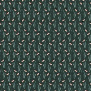 Dark Green Modern Coneflower