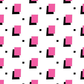 Pink & Black 80s style squares
