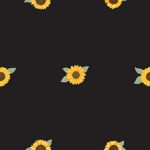 Small Sunflowers (Black) - Sunflower Fields Collection