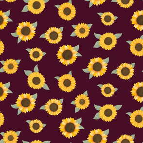 Large Sunflowers (Red) - Sunflower Fields Collection