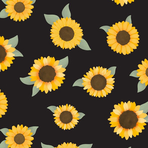 Large Sunflowers (Black) - Sunflower Fields Collection