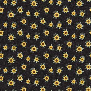 Suntastic Sunflowers  (Black) - Sunflower Fields Collection