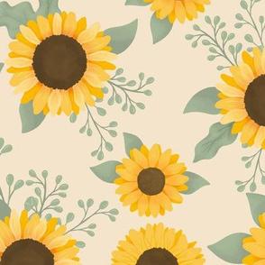 Sunflower Field (Cream) - Sunflower Fields