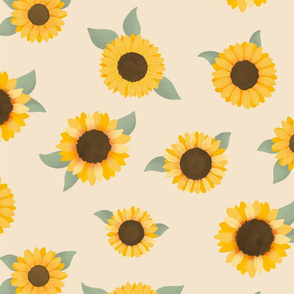 Sunflower Cream - Sunflower Fields Collection