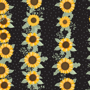 Sunflower Row (Elf Black) - Sunflower Fields Collection