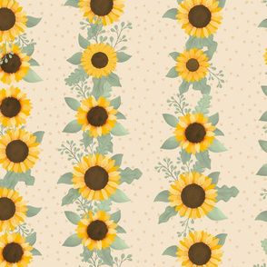 Sunflower Row (Elf Cream) - Sunflower Fields Collection