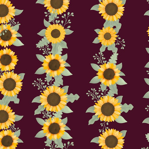 Sunflower Row (Elf Red) - Sunflower Fields Collection