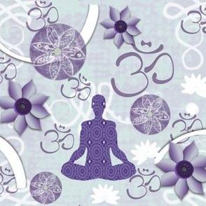 Lavender Meditating Yogini