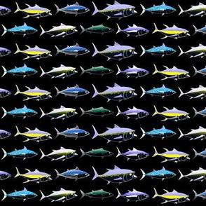 7 Tuna in night colors on black