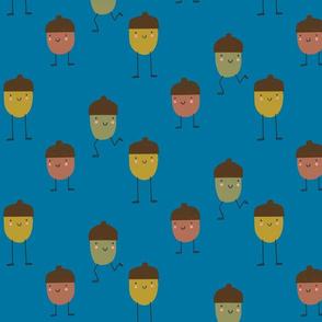 Acorn Friends - Bright blue