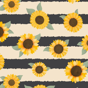 Sunflower with Stripes - Sunflower Fields Collection