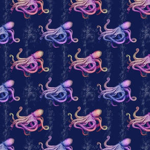 Small Octopus Silhouette-navy