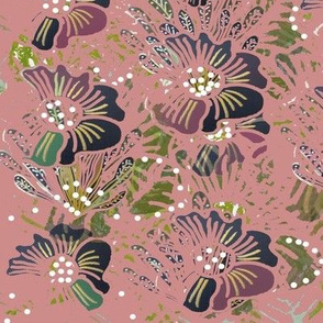 Bohemian Autumn Flora - Dusky Pink