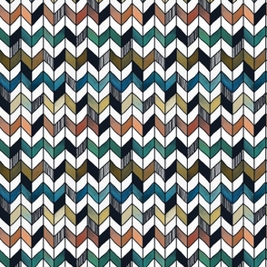 1 inch Rainbow Herringbone hand painted chevron, checks,  geometric, baby, nursery, kids, coordinate, blanket, curtains, home decor