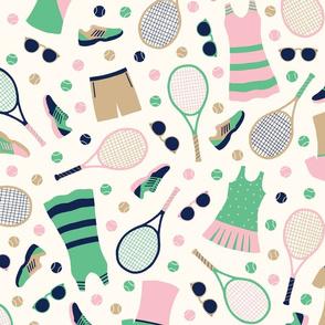 Preppy Tennis Gear in basic repeat