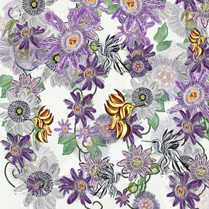 Imaginative Hummingbirds with Passion Flowers