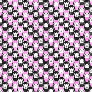 Small Alpaca pride - bubblegum pink stripe
