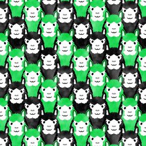 Alpaca pride - lime green stripe