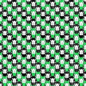 Small Alpaca pride - lime green stripe