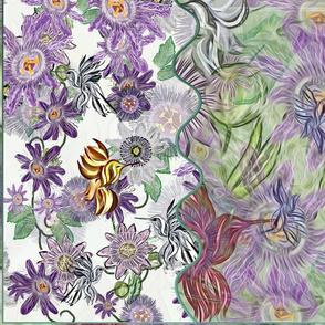 Passion Flowers & Humming Birds
