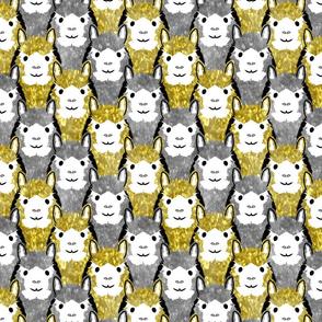 Alpaca pride - gold and silver stripe
