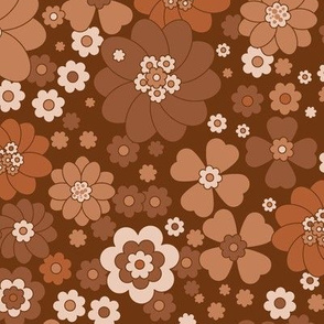 Baby Flower Power -Mocha Bisque