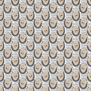 Small Cream Standard Poodle horseshoe portraits