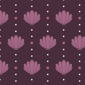 Oysters and Pearls - Plum Deco Purple, Large
