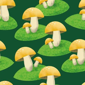 My golden mushroom garden - large