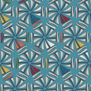 Geometric Sailboats Blue
