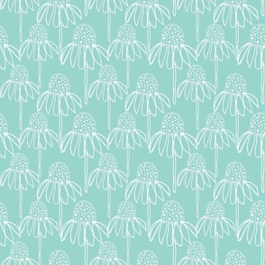 cone flower turquoise repeat