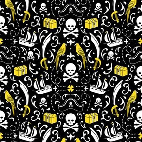 A Pirate's Life Damask (Gold)