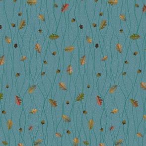Wavy_Oak_leaves acorns
