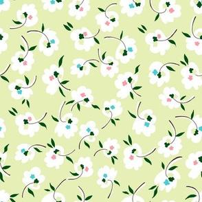 Confetti Flowers - Green