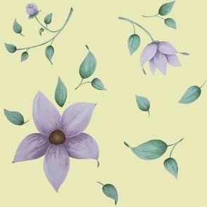 Lavendar Floral Toss