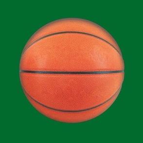 """6"""" basketball on green"""