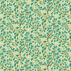 Blue vine flower