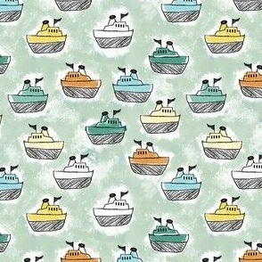 Toy Tugboats-Green, Small