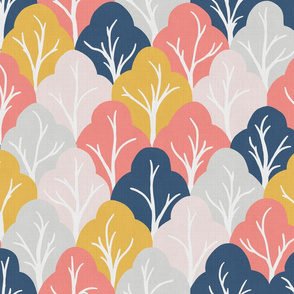 forest for the trees - living coral linen
