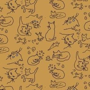 tan cat drawings