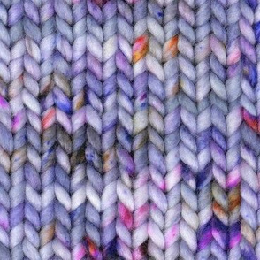 Chunky speckled stockinette stitch - purple