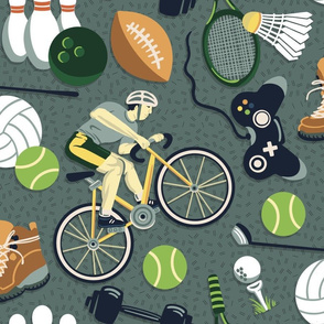 Sports and Leisure Motifs - No Flowers