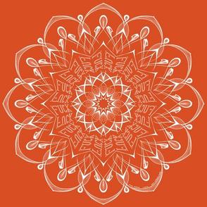 Fuck mandala (orange)